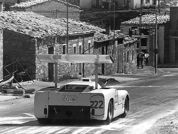 Phil driving the Chaparral 2F on the the 1967 Targa Florio