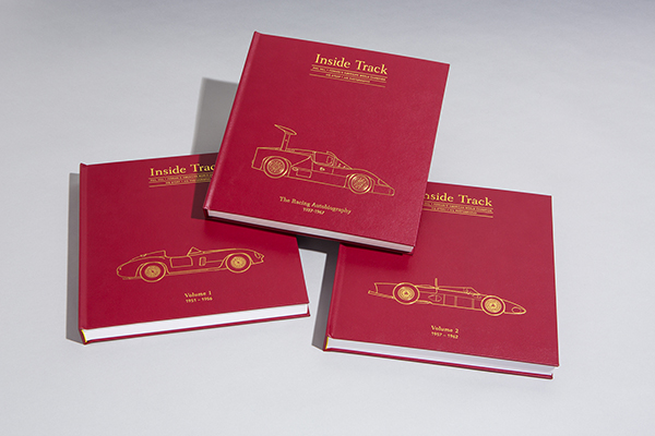 The three leather-bound volumes that comprise the Connoisseur's Edition