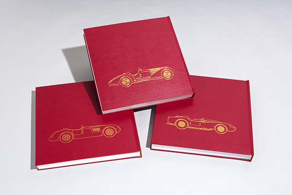The back covers of the three volumes will also include line drawings of some of Phil's most memorable cars