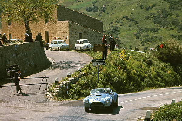 Driving the Shelby Cobra on the Targa Florio in 1964