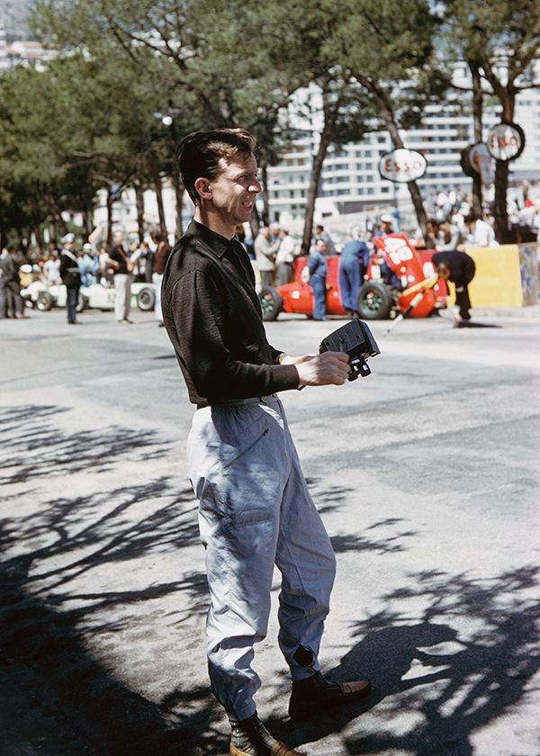 And here's Phil's photograph of Tony watching practice for the 1961 Monaco Grand Prix, where he was driving for BRM